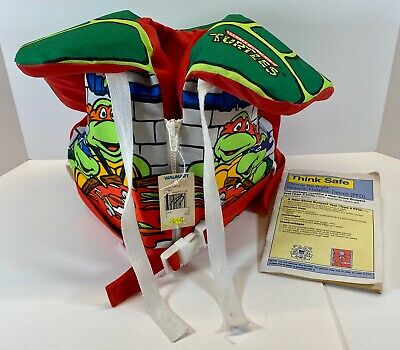 Set Of 4 TMNT 1990 Pennants Wall Hanging Banner Sewer Sports Legends Lot Trench