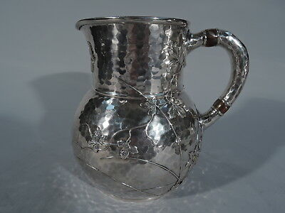 Tiffany Water Pitcher - 3077 - Japonesque    Sterling Silver Mixed Metal