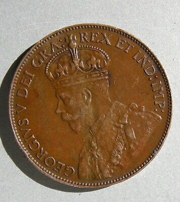 Canada 1920 Large One Cent Coin King George V