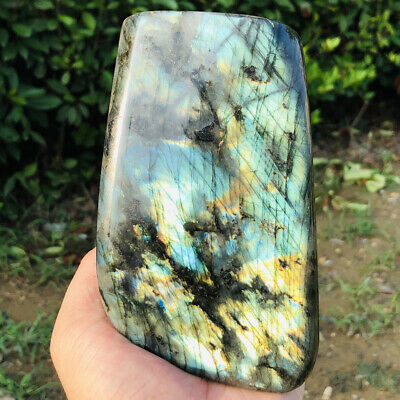 1160g Natural Labradorite Crystal Rough Polished Rock From Madagascar DLB663