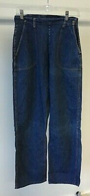 RARE 1950s Vintage Blue Bell Jeans Conmatic Zip ACTUAL 28 x 28 Tag Misses 16 USA