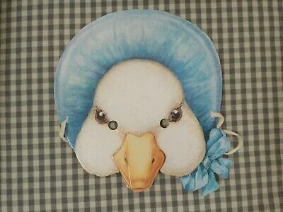 Rare Beatrix Potter Jemima Puddle Duck Paper Mask 1993