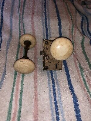 Vintage Antique Porcelain Doorknobs