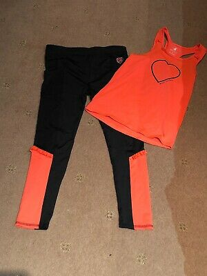 Girls Age 12 Sportswear Leggings Vest Set