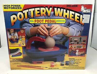 Pottery Wheel Workshop Deluxe NSI (new Factory SEALED) Great For Kids Motorized