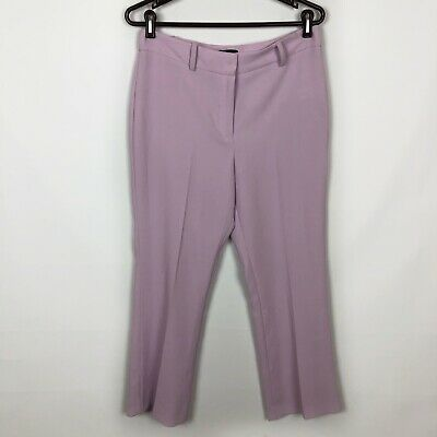 1.State Purple Orchid Texture Crepe High Rise Dress Pants Women's Size 8