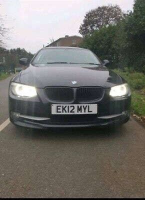 BMW 3 SERIES COUPE E92 BLACK RED INTERIOR PETROL 320i 88K MILES LONG MOT
