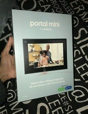 """Portal Mini White 8"""" From Facebook - Smart, Hands Free, Video Calling With Alexa"""