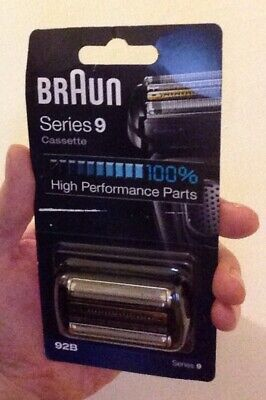 Braun 92B Series 9 Electric Shaver Replacement Foil Cassette Cartridge Black New