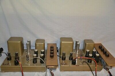 Pair of Dumont RA-395 Amplifiers/Preamps for Stereo, (8) 6V6, More