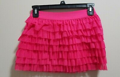Circo girls pink tulle tiered skirt size 10-12
