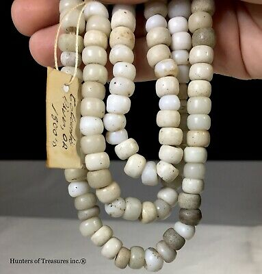 Collection of Old Native American Padre Indian Artifact Trade Beads 1800s Oregon