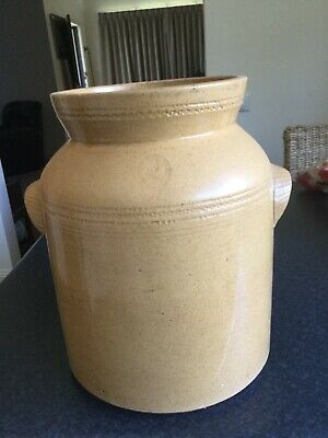 Rare large cane ware Lithgow pottery bung jar
