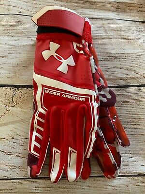 Under Armour Youth UA HEATER Undeniable Batting Glove Red CaMO Small S Kids