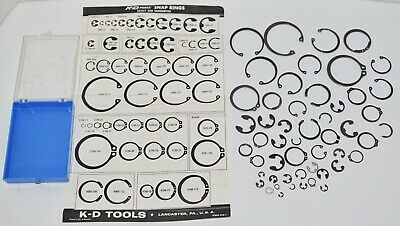 Vintage K-D Tools Snap Rings Lot of 51 Assorted Mixed Sizes Lancaster PA