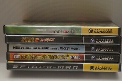 Lot of (5) Nintendo Gamecube Games W/Pikmin, Sonic Adventure Battle 2 & MORE!