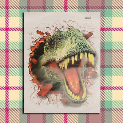 Dinosaur 3D Effect Wall View Sticker Poster Vinyl Decal Characters