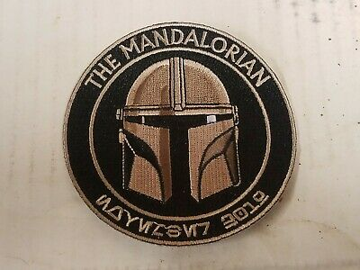 Star Wars The Mandalorian 3.5 Inch Iron On Patch Baby Yoda Din Djarin Mando New