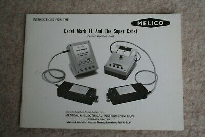 Melico Cadet Mark 11 Instruction Book