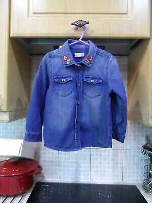 Girls Next Denim Shirt Age 3/4 Years