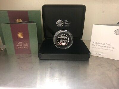 2020 UK BREXIT 50p SILVER PROOF..! COA 43830..!PRESENTATION BOX..! NOW SOLD OUT
