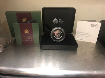 2020 UK BREXIT 50p SILVER PROOF..! COA ..!PRESENTATION BOX..! NOW SOLD OUT 1