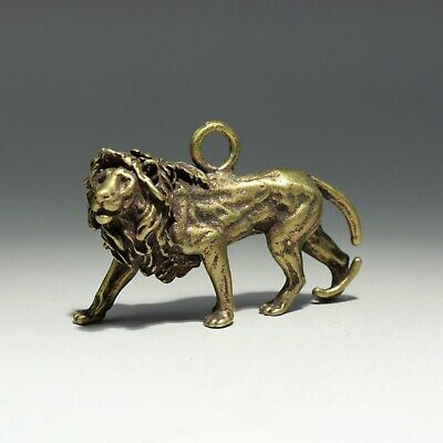 Collect China Old Bronze Hand-Carved Fierce Lion Delicate Unique Decor Pendant