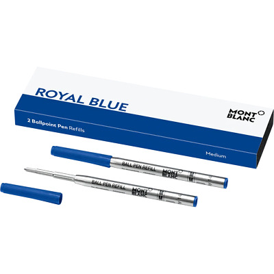 Montblanc 2 Ballpoint Pen Ink Refills (MED) Royal Blue~ BRAND New in Box