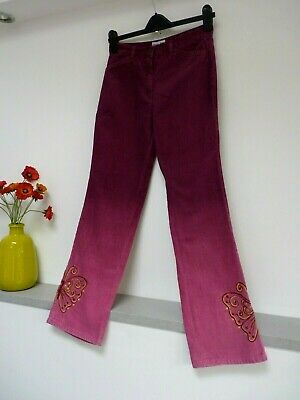 Gorgeous Check This Lindex Purple Mix Embroidered Cord Trousers Age 12/13, Vgc