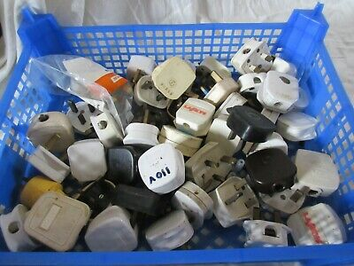 Box Of Assorted 13A Plugs 40+ Most Used Some New
