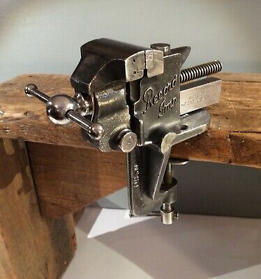 VINTAGE RECORD 'IMP' No 80 HOBBYISTS JEWELLERS MODEL MAKERS BENCH  VICE