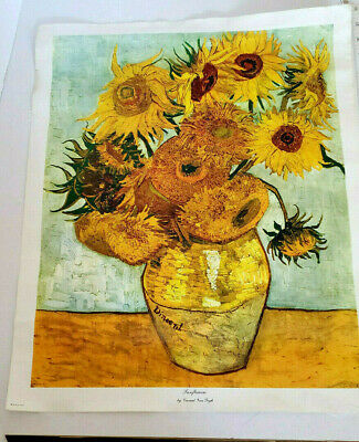 """/""""Sunflowers/"""" 5 by 7 inches Glassmasters Vincent Van Gogh"""