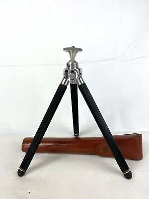 Insing Bergneustadt Germany 4' Miniature Tripod with Leather Case