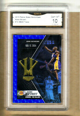 "Kobe Bryant-2016 Panini-""Blue"" HeroVillain-#10-Graded Card-Lakers-10/10 GEM Mint"