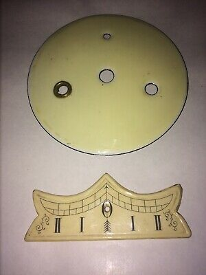 A Porcelain Inner Dial & Beat Plaque For Vienna Wall Clock