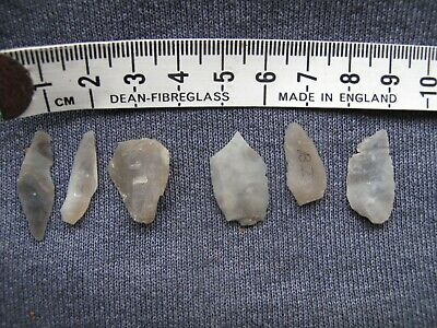 Palaeolithic(or thereabouts) microliths -six flakes from flint knapping