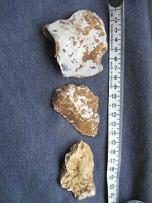 Mesolithic flakes from flint knapping