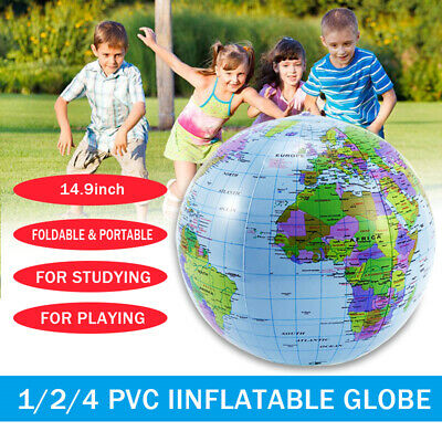 Large 40cm Inflatable World Earth Globe Map Geography Beach Ball Toy party