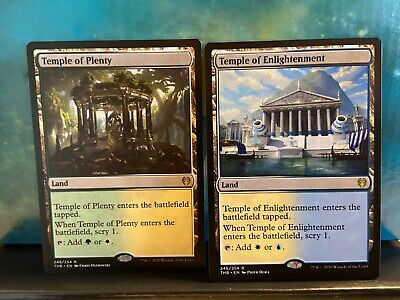 MTG Theros Beyond Death, Temple of Plenty and Temple of Enlightenment NM/M Rare