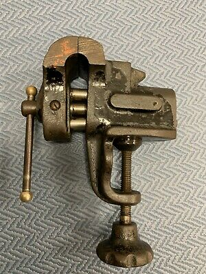 Vintage Small Jewellery Vice With Anvil 4cms Jaws
