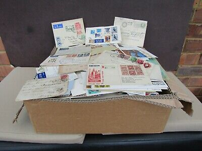 Box Containing 1000+ World Covers - All Periods - Unchecked