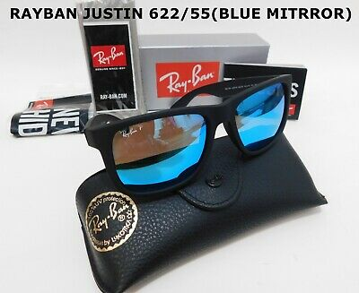 New Authentic Ray-Ban RB4165  Justin Polarized  54MM  MIRRORED sunglasses