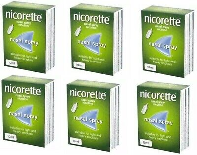 Nicorette Nasal Spray 10ml - 6 Packs - Long Expiry - Brand New - Next Day Post