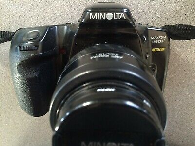 Minolta Maxxum 450si with two AF lenses (35mm-70mm & Promaster 70mm-300mm)