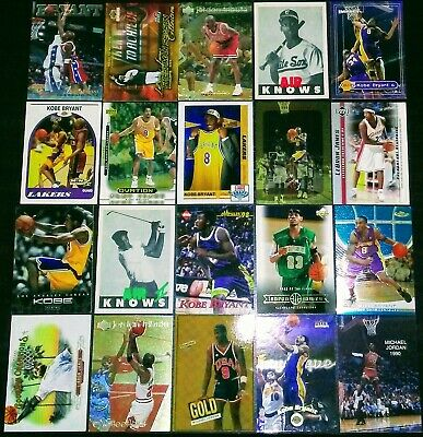 Michael Jordan + Kobe Bryant + Lebron James Rookie/Insert Card RARE Lot Ex-Nr