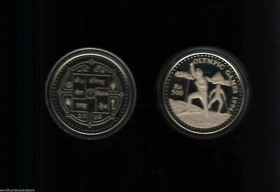 Nepal 500 Rupees 1994 Ski Silver Olympic Proof Commemorative Money Asian Coin