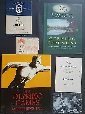 1956 Olympic Games Collectable OPENING CEREMONY ATHLETICS  PROGRAMS AND MORE
