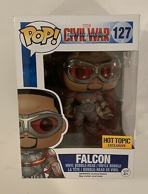 Funko POP! Marvel Captain America Civil War Falcon #127 - Hot Topic Exclusive