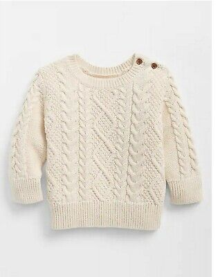 GAP Baby Girls Kitty Cat Crew Knit Sweater Front Back Detail NEW 3 6 12 18 24