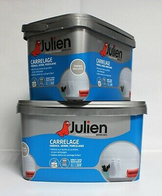 Peinture Julien Renovation Carrelage Titanium Brillant 2 L Eur 33 90 Picclick Fr